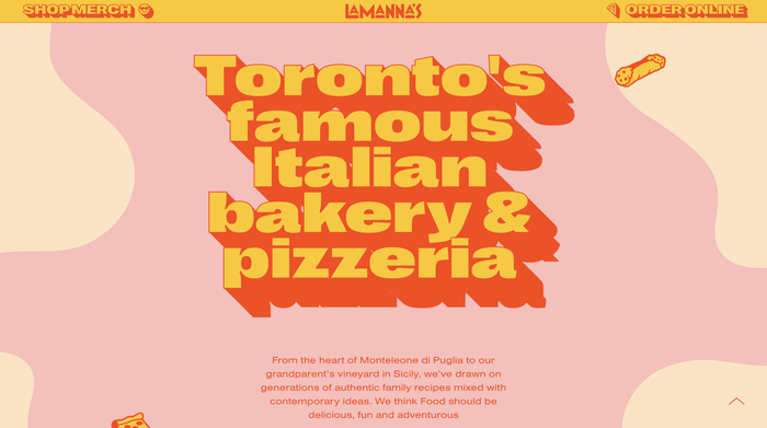 Lamanna's Bakery website 1