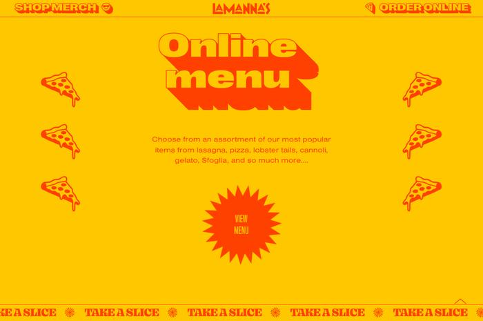 Lamanna's Bakery website 2