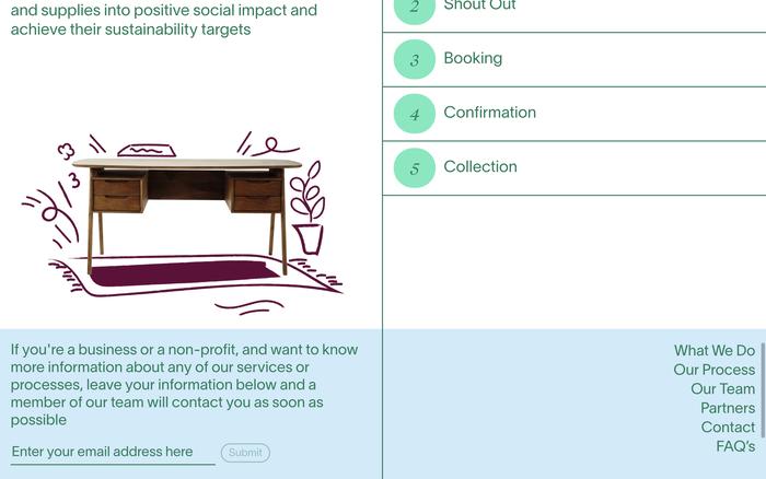 Relieve Furniture website 4