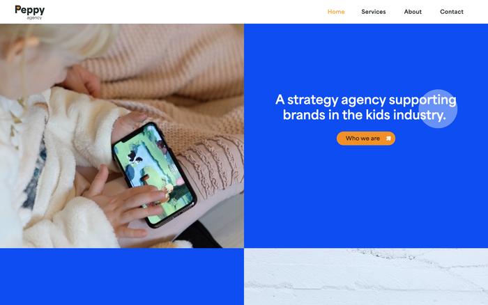 Peppy Agency website 3