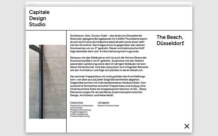 Capitale Design Studio website 6