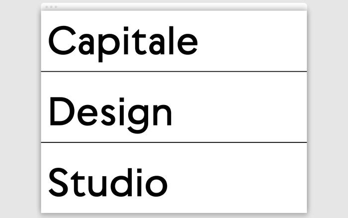 Capitale Design Studio website 1