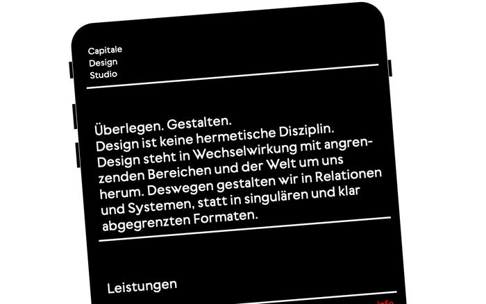Capitale Design Studio website 3