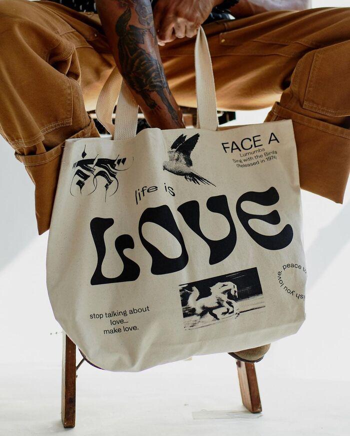 """Peace, Love"" Lumumba streetwear collection 4"