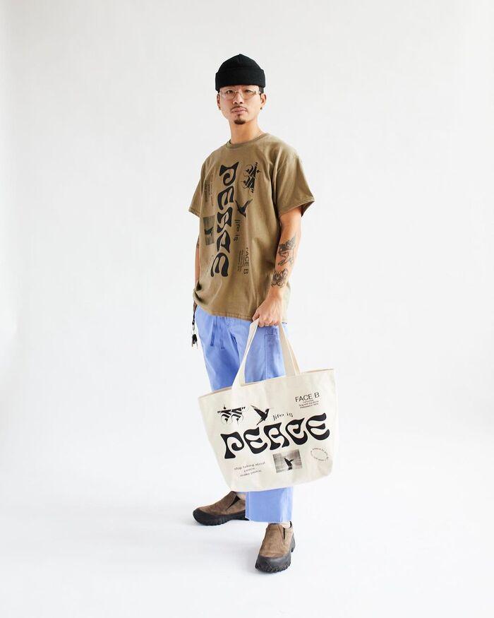"""Peace, Love"" Lumumba streetwear collection 6"