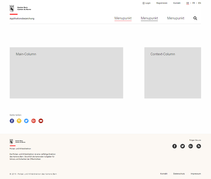 A wireframe of an updated website in Roboto.