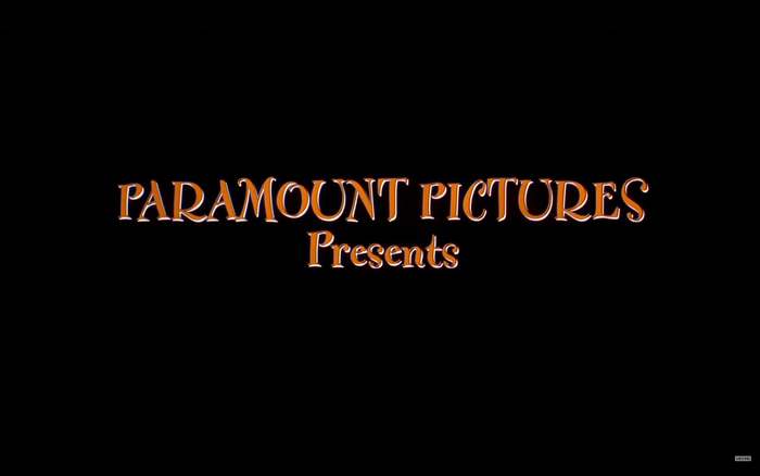 """Still from the trailer, with """"Paramount Pictures presents"""" in FF Fontesque."""