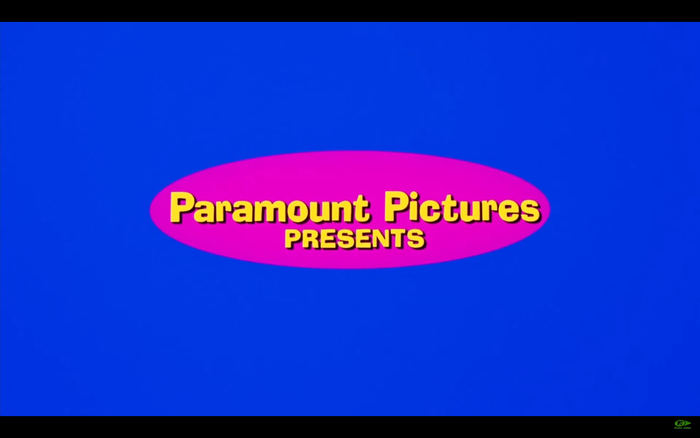 """Still from the opening credits, with """"Paramount Pictures presents"""" in Ad Lib."""