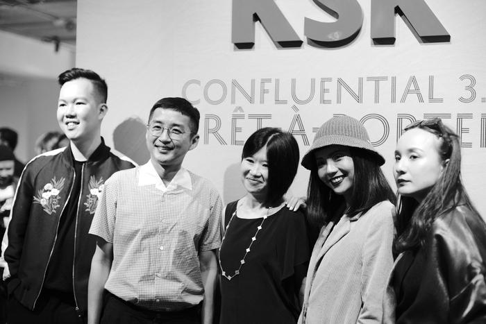 KSK Group CEO Joanne Kua (centre) with designers Jonathan Liang, Khoon Hooi, Kittie Yiyi and Ezzati Amira