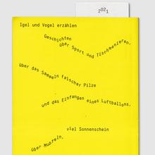 <cite>Igel und Vogel Geschichten </cite>children's book