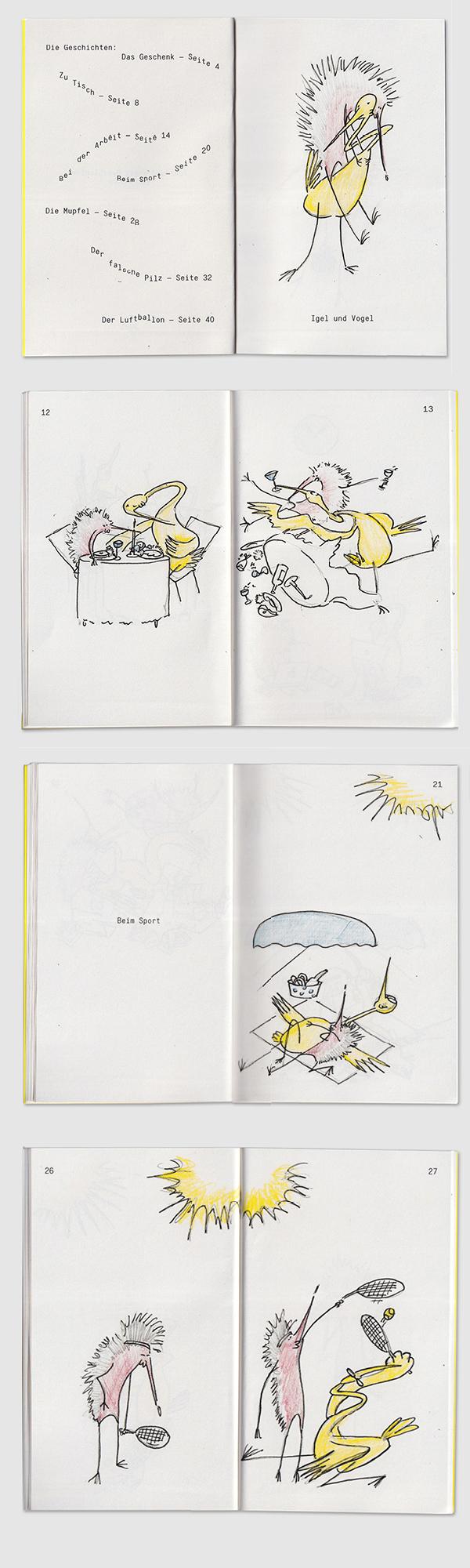 Igel und Vogel Geschichten children's book 3