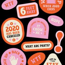 Stay Home sticker sheet