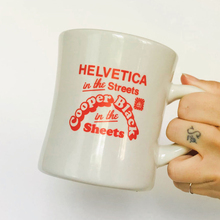 Helvetica in the Streets mug