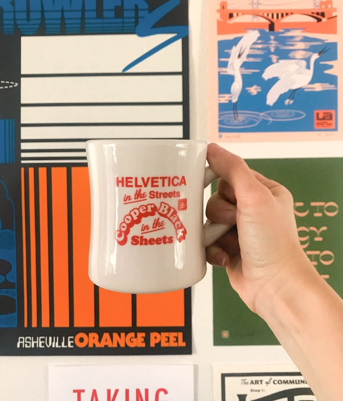 Helvetica in the Streets mug 3