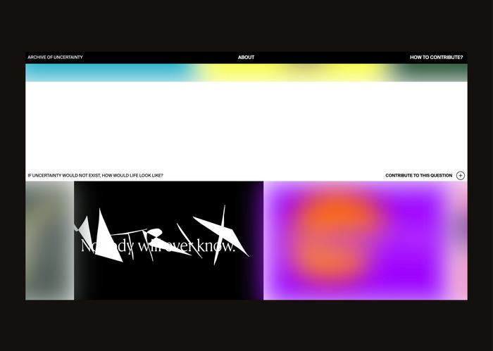 Archive of Uncertainty website 1