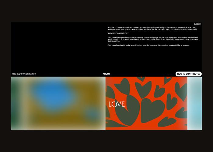 Archive of Uncertainty website 5