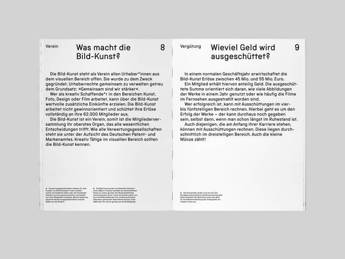 VG Bild-Kunst copyright association brochure 3