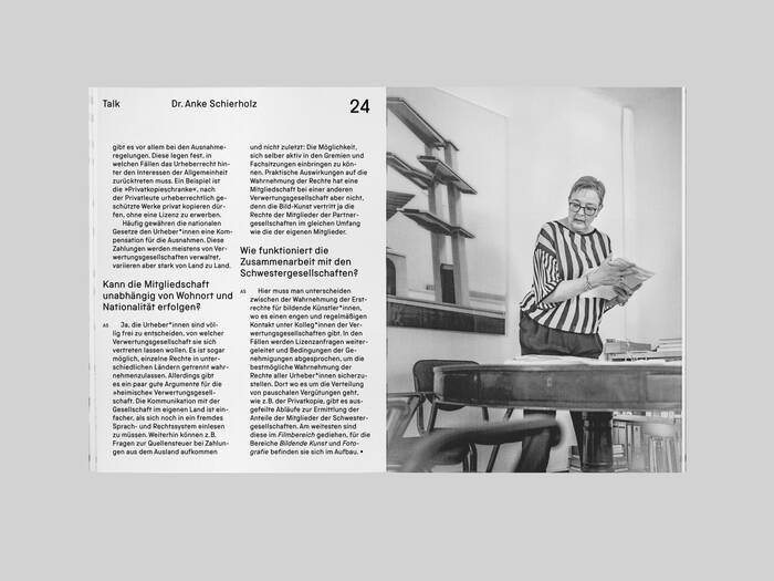 VG Bild-Kunst copyright association brochure 5