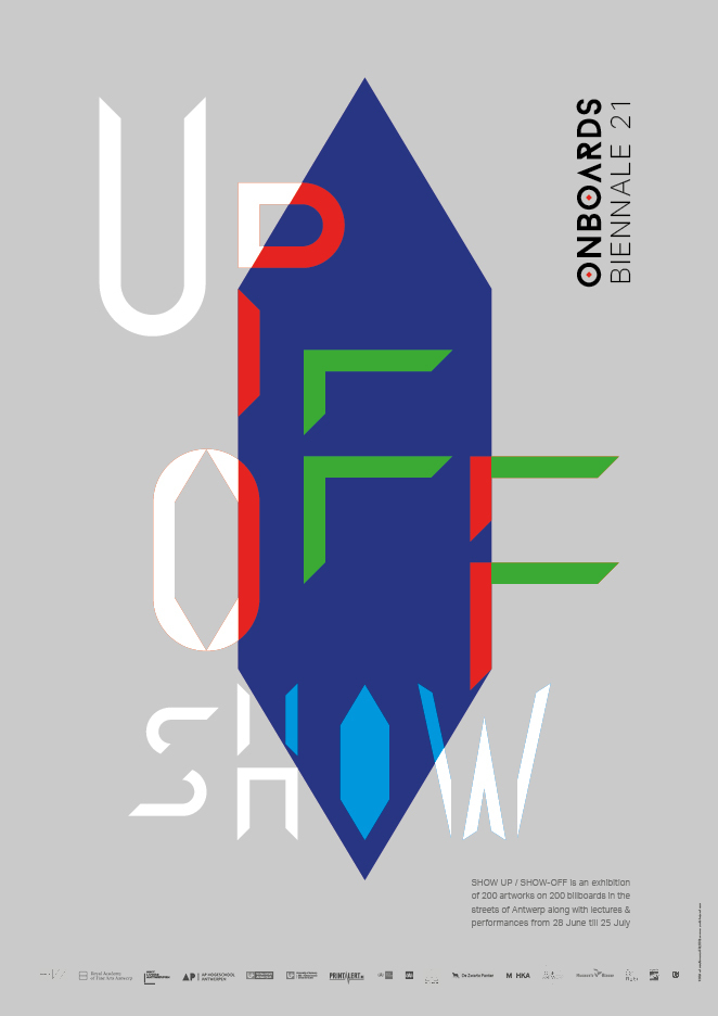 Show Up/Show-Off exhibition posters 1