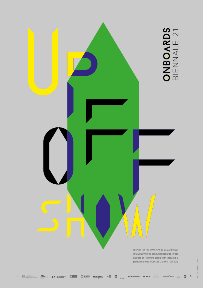 Show Up/Show-Off exhibition posters 2