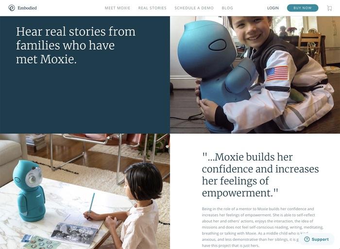 Moxie robot website 2
