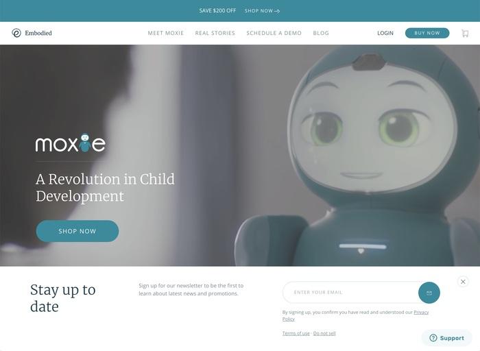 Moxie robot website 1