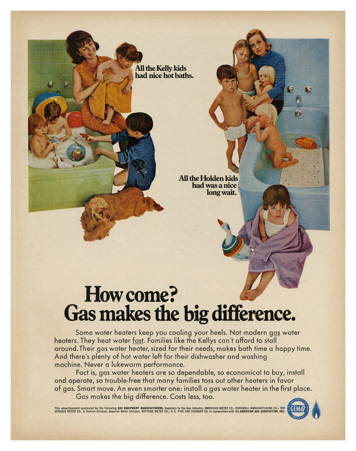 Gas Equipment Manufacturers ad (1967)