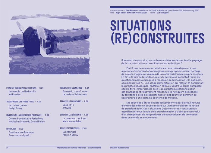 Construire réversible (2017) and  Transformation des situations construites (2020) by Canal architecture 7