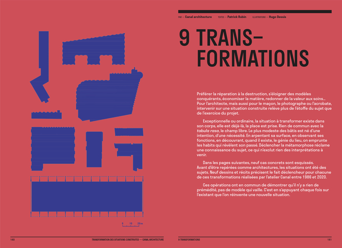 Construire réversible (2017) and  Transformation des situations construites (2020) by Canal architecture 8