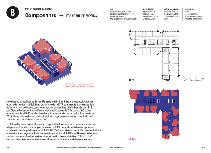 Construire réversible (2017) and  Transformation des situations construites (2020) by Canal architecture 9