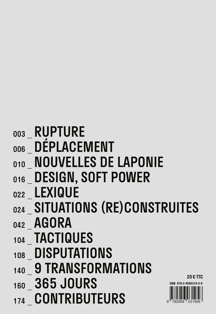 Back cover of Transformation des situations construites.