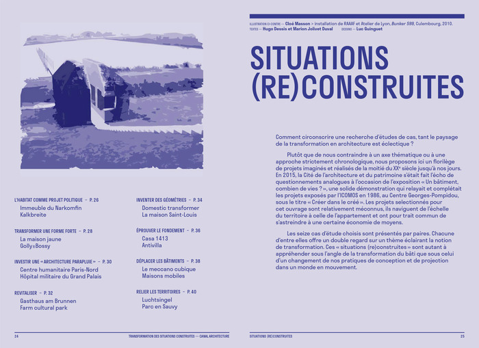 Construire réversible (2017) and  Transformation des situations construites (2020) by Canal architecture 11