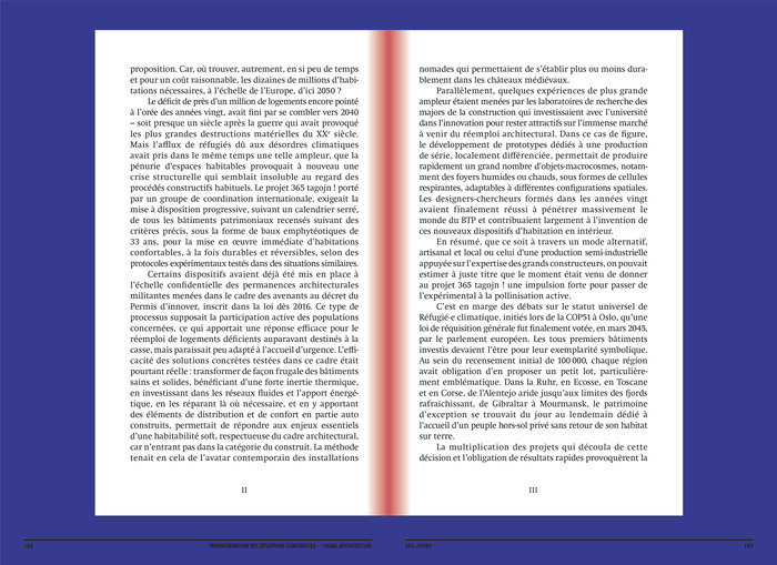 Construire réversible (2017) and  Transformation des situations construites (2020) by Canal architecture 14