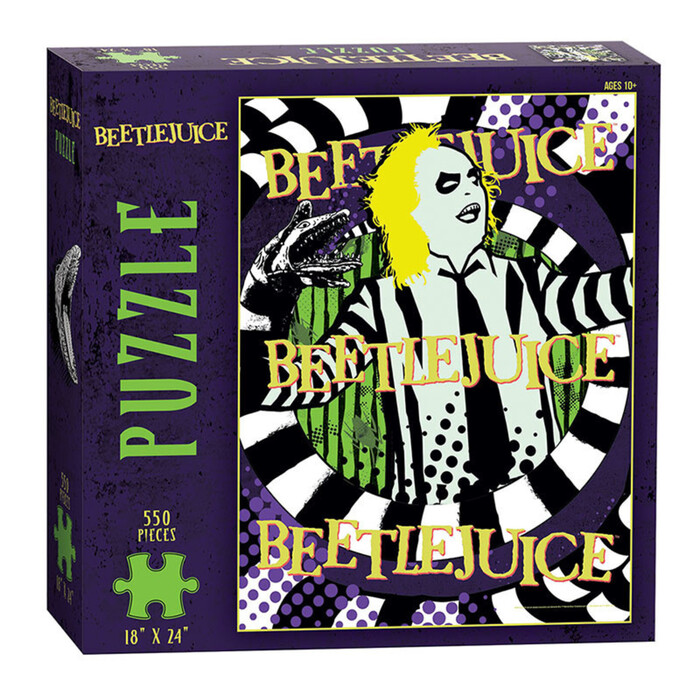 Beetlejuice puzzle. The green text in  Corners;