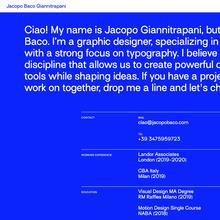 Jacopo Baco Giannitrapani website