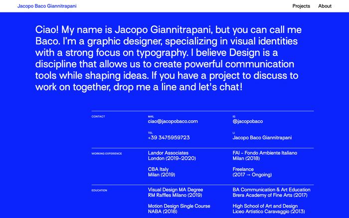 Jacopo Baco Giannitrapani website 6