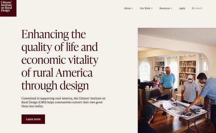 Citizens' Institute on Rural Design website 1