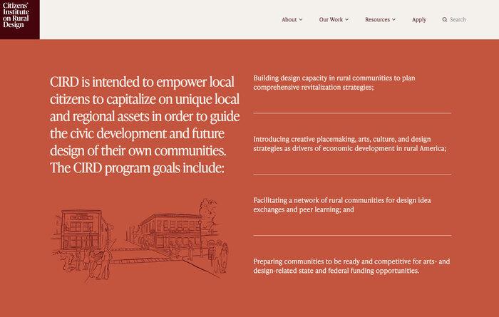Citizens' Institute on Rural Design website 3