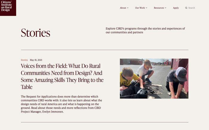 Citizens' Institute on Rural Design website 5