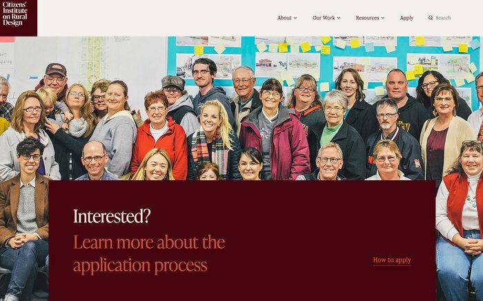 Citizens' Institute on Rural Design website 7