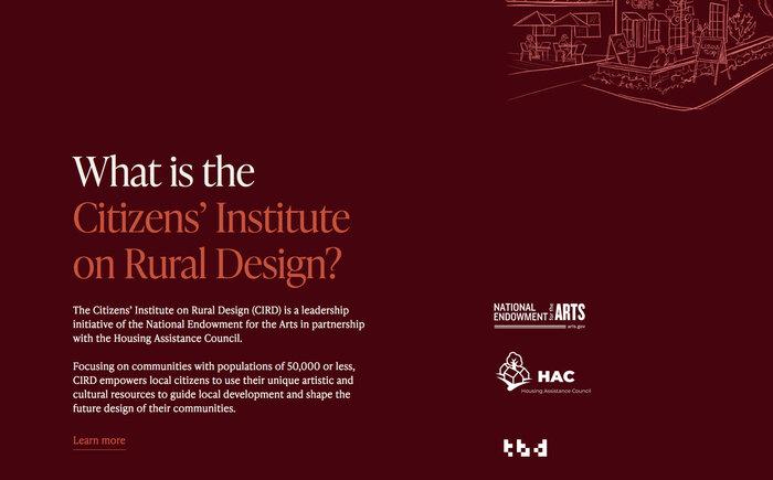 Citizens' Institute on Rural Design website 4
