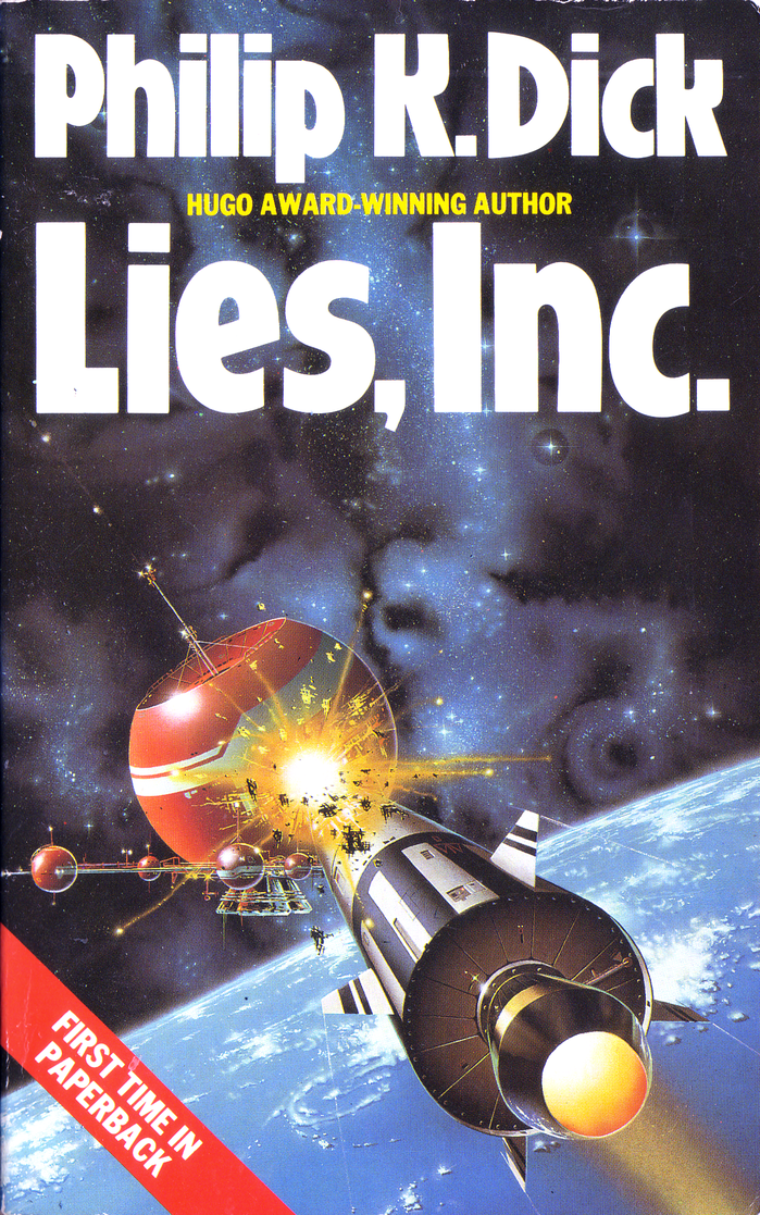Lies, Inc. (1985). Cover art by Trevor Webb. [More info on ISFDB]