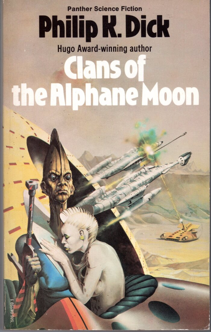 Clans of the Alphane Moon (1975). Cover art by Peter Andrew Jones. [More info on ISFDB]
