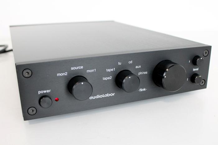 Audiolabor's flink preamplifier (front).