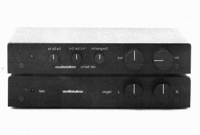 Detail from an undated brochure for Audiolabor's fein MM preamplifier.
