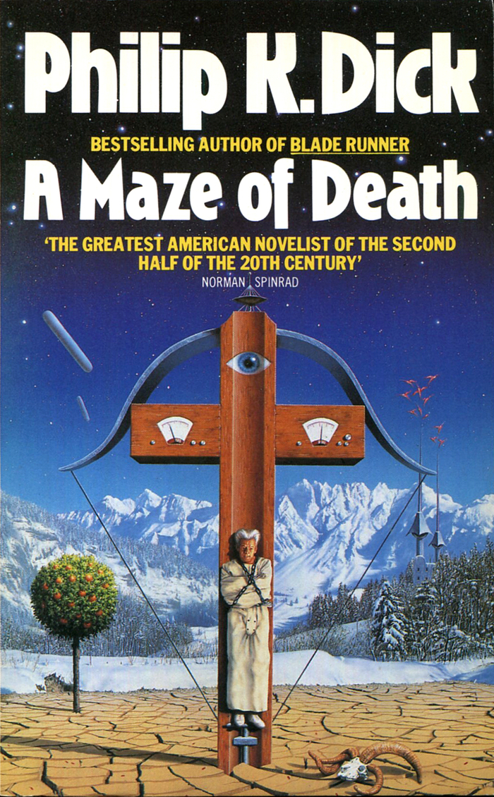 A Maze of Death (1984). Cover art by Tim Gill. [More info on ISFDB]