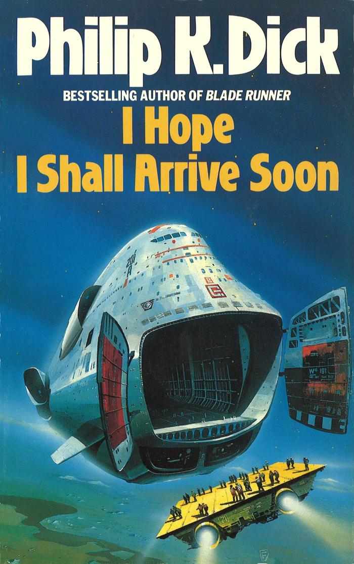 I Hope I Shall Arrive Soon (1988). Cover art by Chris Foss. [More info on ISFDB]