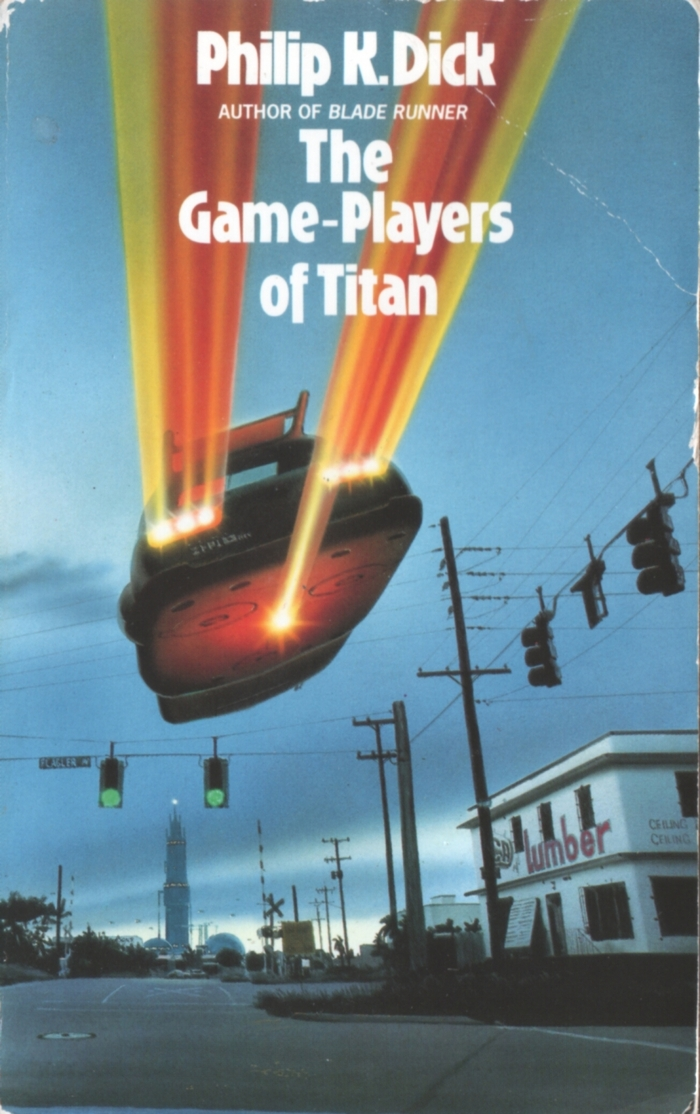 The Game-Players Of Titan (1991). Cover art by Chris Moore. [More info on ISFDB]