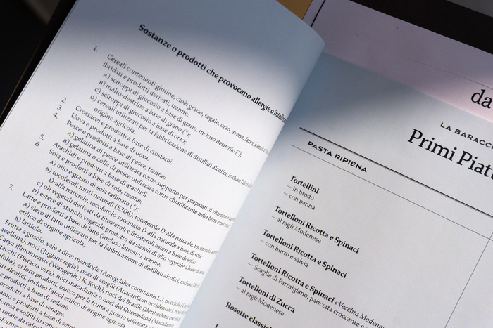 La Baracchina menu 4