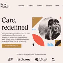 Koa Health website